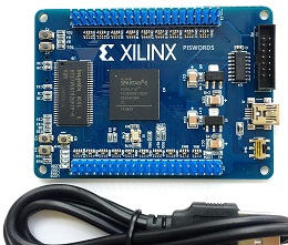Xilinx XC6SLX16 FPGA development board